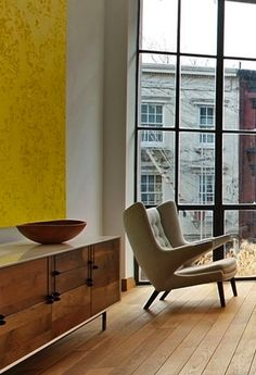 BEN THIS IS THE 'PAPA CHAIR'!! around £6000!! 259 East 7th Street grid window & a papa bear chair bliss