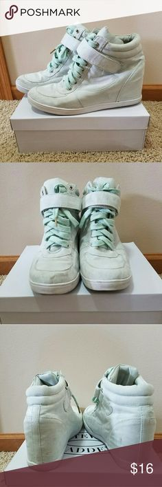 Shoedazzle Mint Fashion Sneakers Wedge design. Shoedazzle  Shoes Sneakers