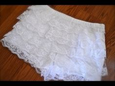 {195} SEWING FOR BEGINNERS! How to make tiered lace shorts! DIY Thursday #29