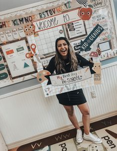 My preschool classroom boards and cozy corner! I've been so over the moon excited about my new room and the first week has been going amazing! �������� I am in love with neutral colors and warm tones! Elementary Classroom Themes, Kindergarten Classroom Decor, Classroom Setup, Classroom Design, Future Classroom, Classroom Organization, Classroom Decoration Ideas, Classroom Checklist, Modern Classroom