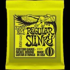 Ernie Ball – 2221 – Regular Slinkly. Per chitarra elettrica Avvolgitura in acciaio nichelato Scalatura .010-.013-.017-.026-.036-.046