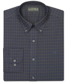 Lauren Ralph Lauren Non-Iron Slim-Fit Green Tartan Dress Shirt
