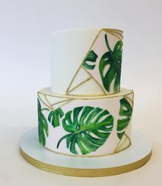 Green cake, small and fresh, let you get a good mood and feel the spring - Page 10 of 43 - slleee Decoration Evenementielle, Green Cake, Tropical Party, Baby Shower Cakes, Safari Baby Shower Cake, Party Cakes, Eat Cake, Bunt, Party Themes