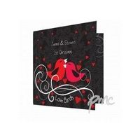 Black Love Birds Valentines Card from Experience Frenzy