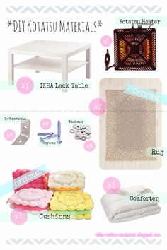 Deco Adventures: DIY Kotatsu Tutorial from IKEA Coffee Table
