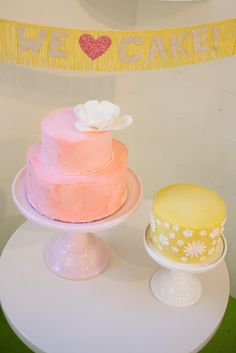 Pink and Yellow Cakes