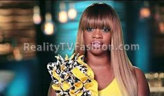 Christina Johnson's #GreenScreen Confessional Interview Yellow Floral Embellished Dress #AtlantaExes
