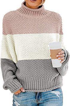 Hand Knitting, Knitting Patterns, Striped Turtleneck, Batwing Sleeve, Long Sleeve, Sweater Fashion, Sweater Weather, Knit Crochet, Knitted Fabric