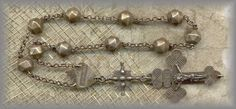 19c SILVER 'TENNERS'   TRADITIONALLY A MAN'S ROSARY