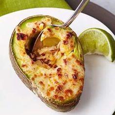 Chipotle-Cheddar Broiled Avocado Halves Recipe