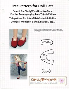 ChellyWood.com has lots of free patterns for dolls of different sizes.