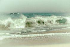 Ocean Photography, Beach Art, Seascape Art, Big Sur Print, Pacific Ocean Photo, California Landmarks, Beach House Decor, Pastel Green Teal