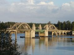 A friend took this picture of the Siuslaw Bridge in Florence, Oregon. Where I grew up