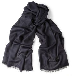 Dunhill Cashmere and Silk-Blend Scarf   MR PORTER