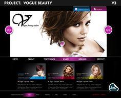 Custom Beauty Spa Website Design by Steven Dorman, via Behance Beauty Web, Vogue Beauty, Spa Website, Email Newsletter Design, Book Making, Website Template, Lorem Ipsum, Salons, Web Design