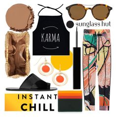 """""""Shades of Karma: Sunglass Hut Contest Entry"""" by foundlostme ❤ liked on Polyvore featuring San Diego Hat Co., Urban Decay, All Tomorrow's Parties, Friendly Hunting, Liz Claiborne, mywalit, Givenchy, Giorgio Armani, colorful and shadesofyou"""