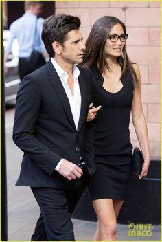 John Stamos & Girlfriend Caitlin McHugh Look So Happy for Date Night in London! | john stamos girlfriend date night london 03 - Photo