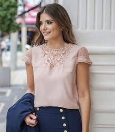 1005 likes 14 comments Formal Blouses, Cute Blouses, Classy Women Quotes, Casual Outfits, Cute Outfits, Blouse And Skirt, Girl Fashion, Womens Fashion, Plus Sized Outfits