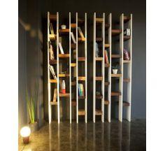R60, bibliothèque éco design en bois recyclé, meuble écologique naturel, Kann Design.