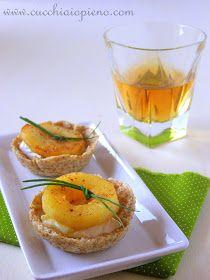receita cestinha de maçã e queijo brie