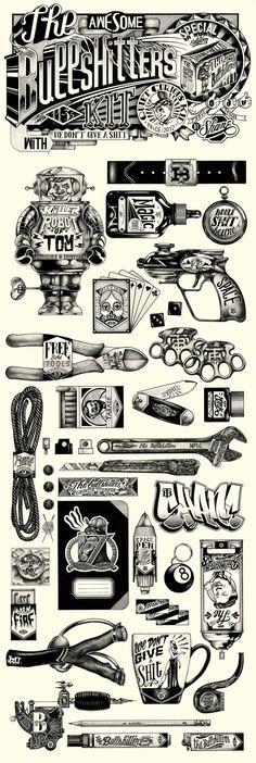 Shane e suas ilustrações em preto e branco com ranhuras e pontilhismo