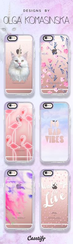 #Pastel love. Click through to see more designs by Olga Komasinska here >>> https://www.casetify.com/komasinskao/collection | @casetify