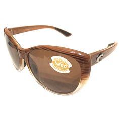 727178e2f7c2 Costa Del Mar La Mar Sunglasses - Wood Fade Frame - Polarized Amber 580P  Lens