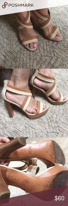 Coach strappy sandals Coach strappy sandals in nude cream color Coach Shoes Sandals