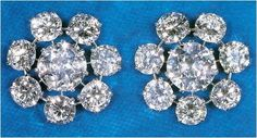 Queen Mary's Floret Earrings These diamond and platinum earrings are another example of the multiple changes Queen Mary made to her jewe...