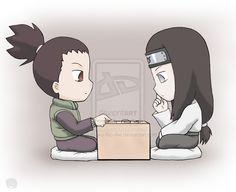 Naruto+Chibis: Shika and Neji by ~Akueriasu-no-Ale on deviantART