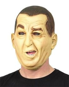 Three Stooges Curly Mask for Halloween. I have to admit, this is TERRIBLE. ah well.