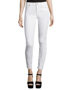 The Skinny Ankle Jeans, White - 7 For All Mankind