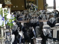 Navy and Silver wedding theme.  Event Design by Luxe Event Productions, LLC.  (c) Luxe Event Productions, LLC.