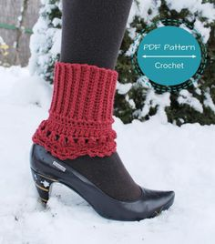 2in1 lacy edge boot ... by supercutestore | Crocheting Pattern - Looking for your next project? You're going to love 2in1 lacy edge boot cuffs by designer supercutestore. - via @Craftsy