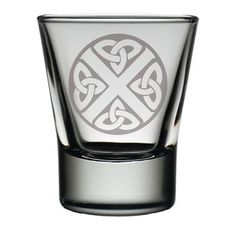 Celtic SaltireDram Glass . . Sold by TartanPlusTweed.com A family owned kilt and gift shop in the Scottish Borders