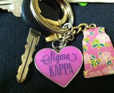 #SigmaKappa keychain $8.00 Contact us so we can make a keychain for your #Sorority too!