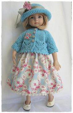Effner Little Darling in blue and roses | Flickr - Photo Sharing!
