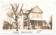Vintage Photo Grand Rapids MI ASHLAND NE House Street Antique Old Michigan Town