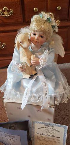 Porcelain Dolls For Sale, Ashton Drake, Lamb, My Etsy Shop, Flower Girl Dresses, Handmade Gifts, Check, Kid Craft Gifts, Craft Gifts
