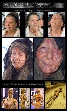 Minotaur - Ingrid Pitt as 'The Sybil'. Prosthetic makeup by Hybrid FX