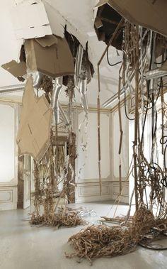 THOMAS HIRSCHHORN http://www.widewalls.ch/artist/thomas-hirschhorn/  #contemporary #art  #installation