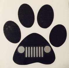 Heart and Dog Paw Decal/Jeep Grill Dog Vinyl Decal Sticker/Dog car decal/ I love dogs decals/Dog love car decal. by KirkwoodBoutique on Etsy