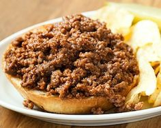 Sloppy Joes  Recipe adapted from Trevor Higgins, Roost, Greenville, SC  Yield: 4 sloppy Joes   Cook Time: 50 minutes      INGREDIENTS      1 pound 80/20 ground beef      ¾ cup ketchup      ¼ cup light brown sugar      1½ tablespoons Worcestershire sauce      ¾ teaspoon Dijon mustard      1 cup apple juice      1 teaspoon kosher salt      ½ teaspoon freshly ground black pepper      2 brioche buns, halved crosswise