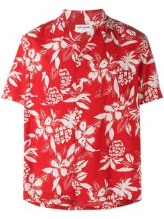 Saint Laurent Camisa com estampa floral