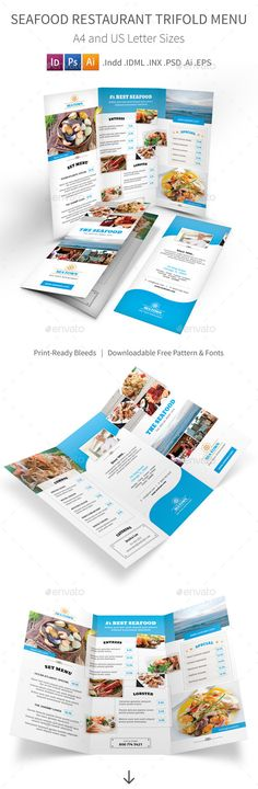 Seafood Restaurant Trifold Menu