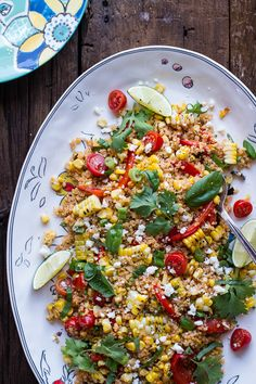 Summer Grilled Mexican Street Corn Quinoa Salad #sidedish