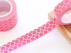 Hot Pink Washi Tape 15mm/ Masking Tape/ Birthday by WashiStation