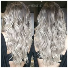 """○ ENDLESS PEARL ○ beautiful blend from a medium ash brown to a light pearly blonde ombre. I used #Schwarzkopf #Blondme as my lightener and toned with…"""