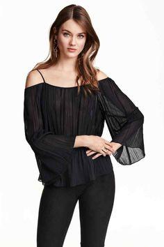 Блуза с голи рамене   H&M