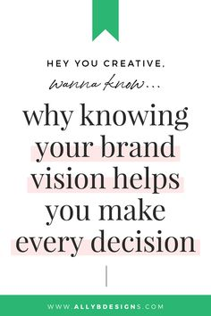 Did you think knowing your brand vision would help you make every decision for marketing your business? Read more to define your vision today! Photographer Business Cards, Photographer Branding, Photography Business, Photography Logos, Wedding Photography, Business Names, Business Tips, Siri Says, Business Branding